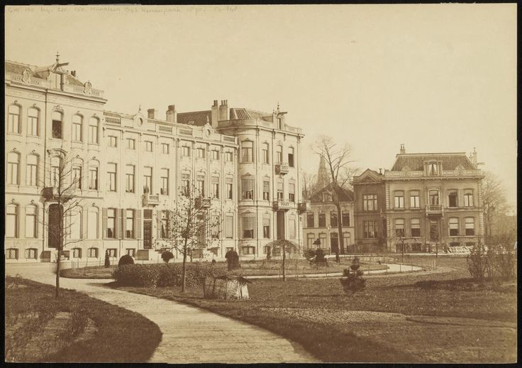Kenaupark, hoek Parklaan.             Foto 1870                                       Fotograaf: Binger & Chits