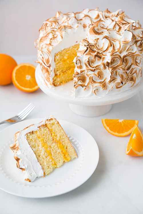 Orange Chiffon Cake with Orange Filling and Meringue | Recipe | Orange ...