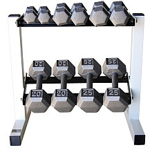I really want a nice set of dumbbells. Ones I can do pushups and such with like these. =) I like how easy it is to lift from this rack as well. All matching and pretty. =) CAP Barbell 150 lb Cast Iron Hex Dumbbell Set with Rack Item Number: 12660559 $299.99 List Price: $349.99* YOU SAVE $50.00 (14%)