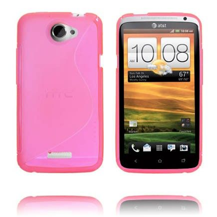 S-Line Läpikuultava (Pinkki) HTC One X Suojakuori