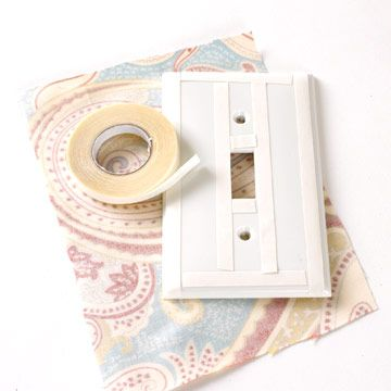 diy fabric covered switchplate