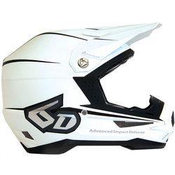 6D Atr-1 Stealth Motocross Helmet - Matte White - 2014 6D Motocross Helmets  -