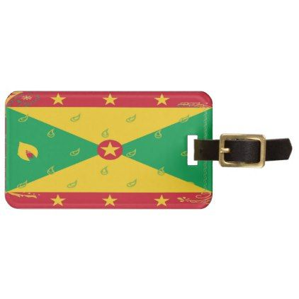Grenada Flag Luggage Tag - accessories accessory gift idea stylish unique custom