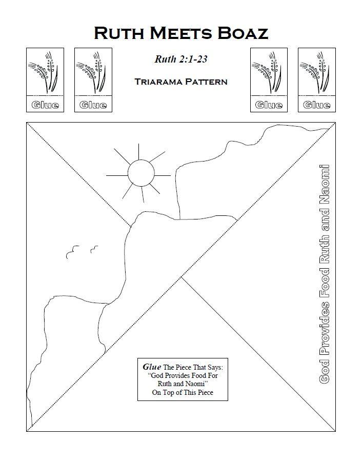 knutselwerkje Triorama Ruth Bible craft Ruth