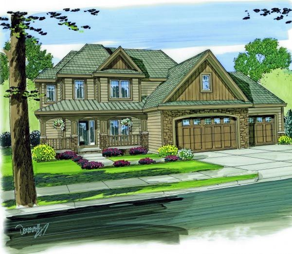 Award Winning Craftsman House Plans: House Plan Chp-46943 At COOLhouseplans.com