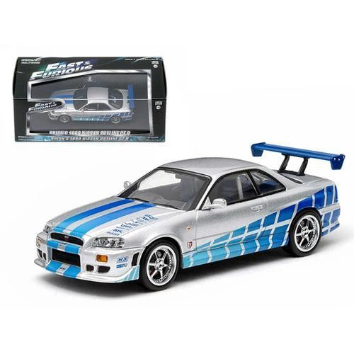 "1999 Nissan Skyline GT-R ""2 Fast 2 Furious"" Movie (2003) 1/43 Diecast Car Model by Greenlight"