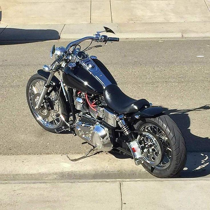 David's '05 Harley Davidson Dyna Wide Glide with custom Voodoo Fender | Rocket Bobs