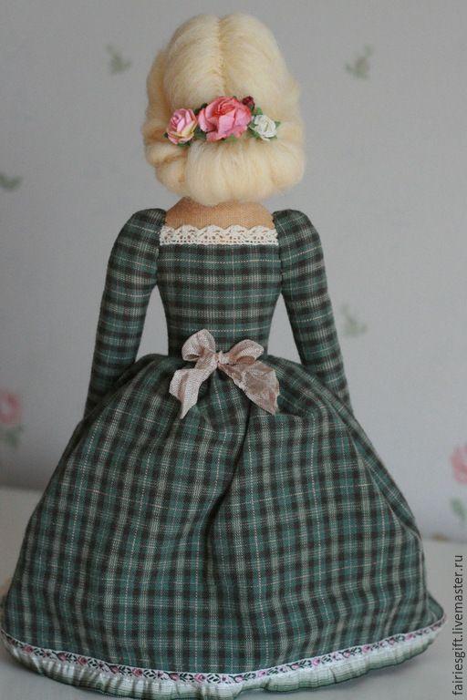 Купить Тильда Пелагея - зеленый, тильда, тильда кукла, кукла Тильда, барышня…
