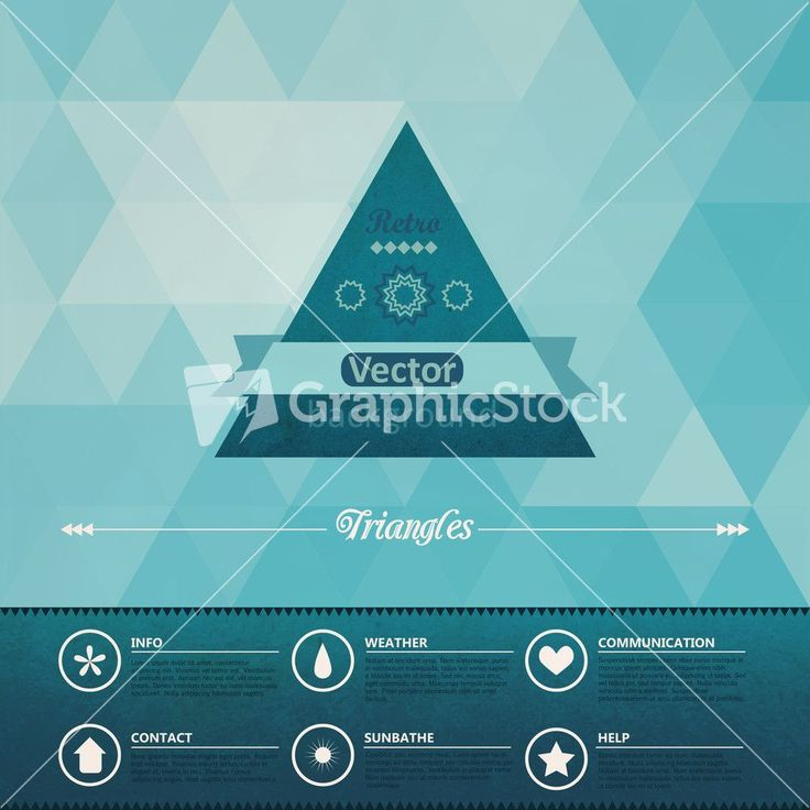 Download Triangle Seamless Background. Retro Label Design. Infographics Composition With Geometric Shapes.