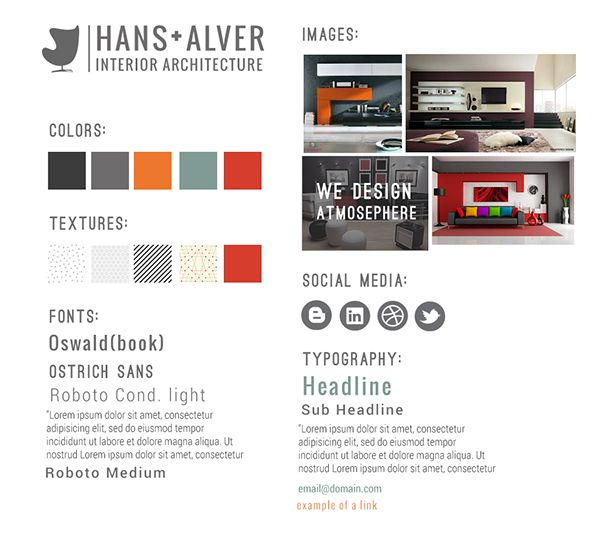 Style Tile For Hans Alver Website