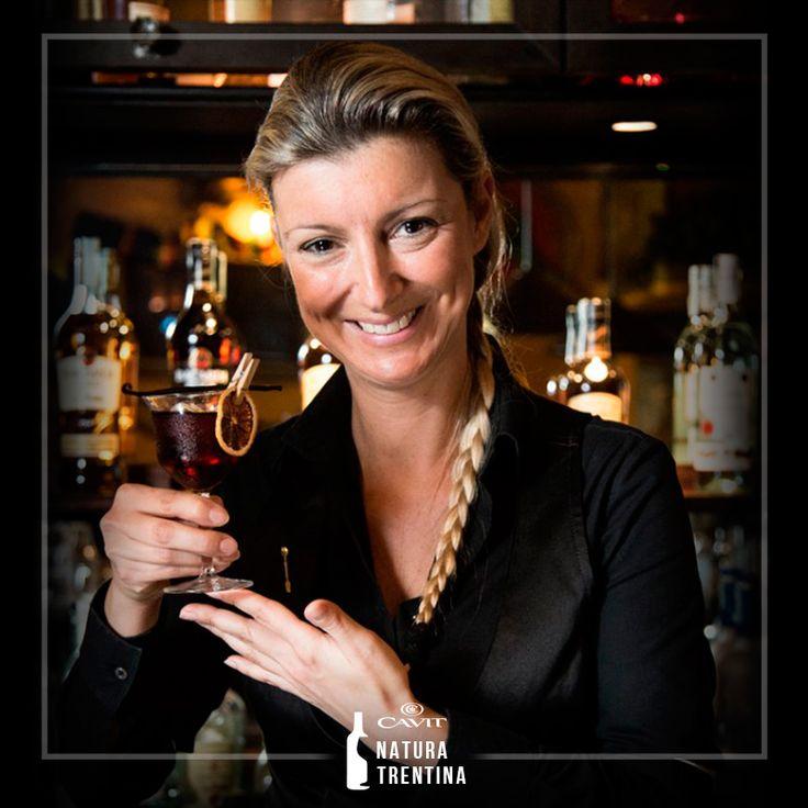 Spring power: il #drink a base di #Müller Thurgau creato da Silvia Ghioni barlady, professionista. Profumi delicati ed eleganza: il #cocktail è sempre di più donna!