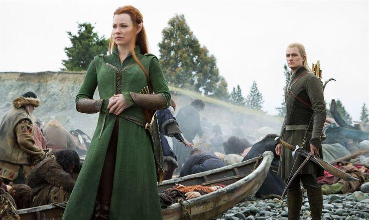 Le Hobbit : la Bataille des Cinq Armées : Photo Evangeline Lilly, Orlando Bloom