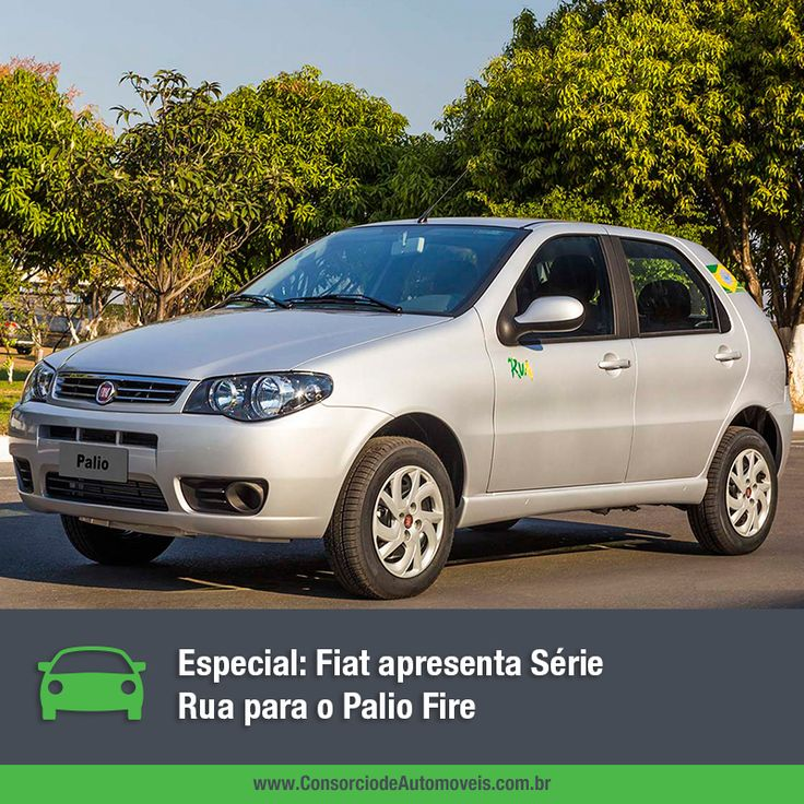 """Depois do Fiat Uno, quem recebe agora a série especial """"Rua"""" é o Fiat Palio Fire. Veja na matéria: https://www.consorciodeautomoveis.com.br/noticias/fiat-apresenta-serie-rua-para-o-palio-fire?idcampanha=206&utm_source=Pinterest&utm_medium=Perfil&utm_campaign=redessociais"""