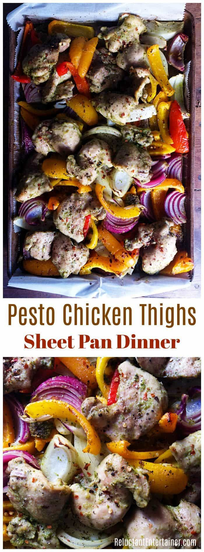 192 best sheet pan dinners images on pinterest cooking recipes pesto chicken thighs sheet pan dinner pesto chickenchicken mealschicken forumfinder Choice Image