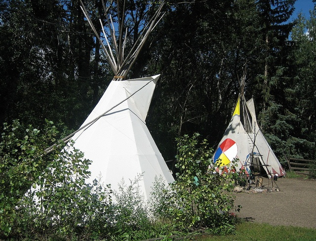 Teepees at the Cree Native Camp, Fort Edmonton, Alberta, Canada by Bencito the Traveller, via Flickr