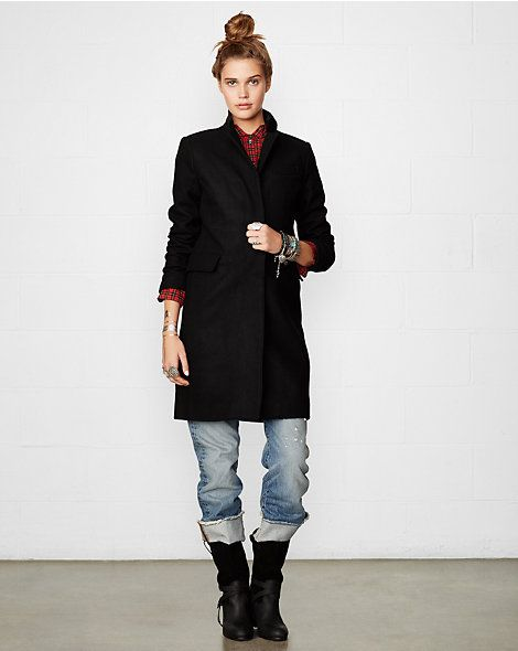 Chesterfield Coat - Outerwear  Women - RalphLauren.com