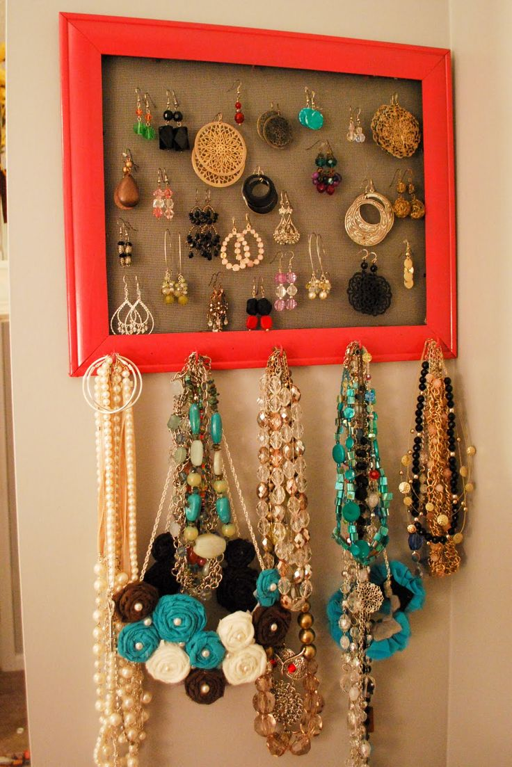lovely jewelry organization: Ideas, Craft, Jewerly Holder, Diy Jewelry, Jewelry Organization, Jewelry Holder