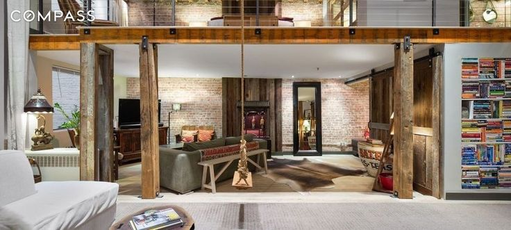 Renovated Tribeca loft with rustic touches wants $1.65M - Curbed NYclockmenumore-arrow : The two-bedroom condo features beamed ceilings, exposed brick, and tons of built-in storage