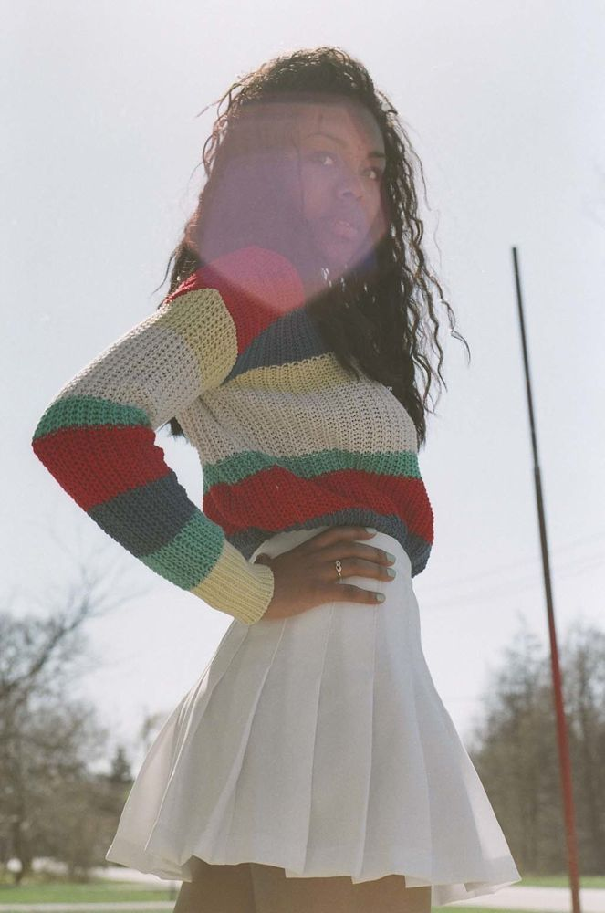 Stripe Fisherman's Pullover and Tennis Skirt. #AmericanApparel  #spring