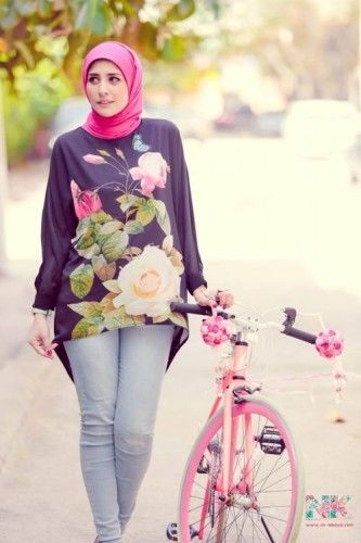 floral blouses hijab spring, Cute pastel hijab for spring http://www.justtrendygirls.com/cute-pastel-hijab-for-spring/