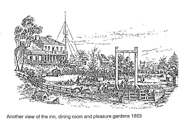 view of the Inn and pleasure grounds 1853