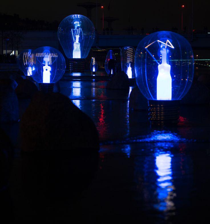 Fête des Lumières de Lyon. Photo credit: Bruno Martinier - Incandescence at Lyon Light Festival 1 - http://philips.to/1AamSgk #fetedeslumieres