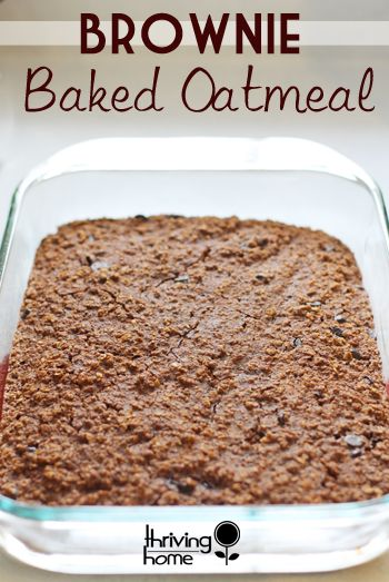 Need an easy to make, healthy breakfast idea? How about one your kids will eat AND will keep them full until lunch? Baked Brownie Oatmeal is a hit for so many reasons in our house! Give it a try and prepare to make multiple batches.
