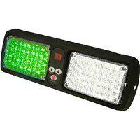 Cheap LUMAX Visor Beam Vehicle Emergency LED Light Green/Clear sale