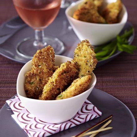 Hähnchenscheiben in Estragon-Parmesan-Kruste Rezept   LECKER