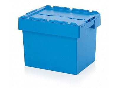 70 Litre Stack - Nest Attached Lid Container - Lidded Plastic Storage Box