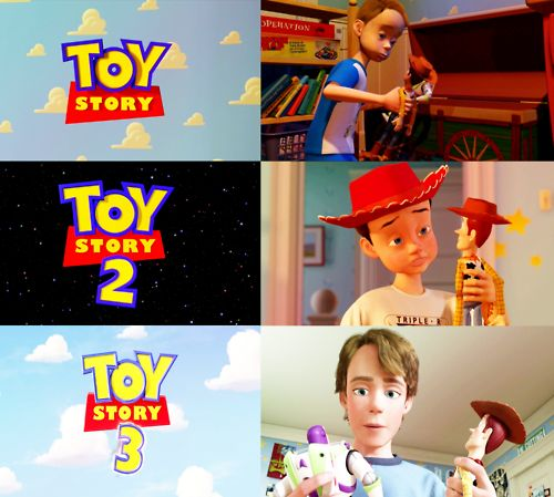 TOY STORY 1,2,3--- Andy growing up.