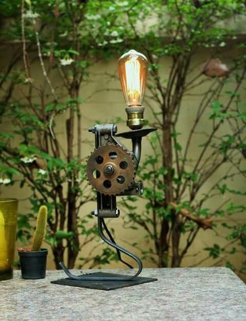 Upcycling lamp by JaideeWoodShop