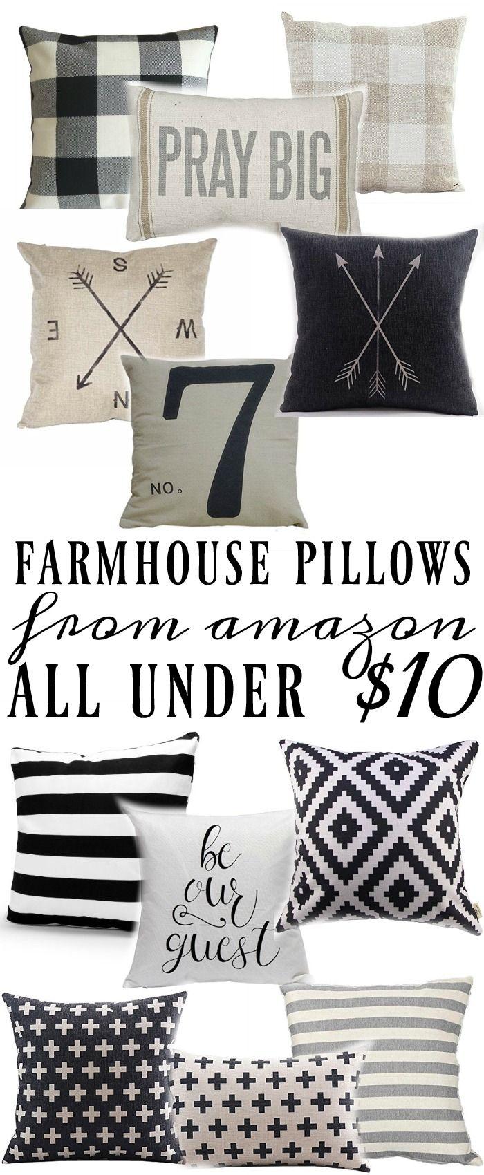 Farmhouse Style Pillows All Under $10 |