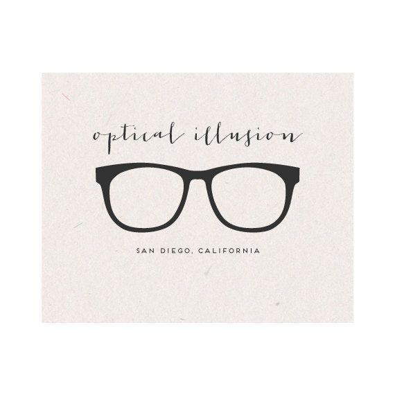 Business Logo Design - Eye Glass Design for Optometrist, Stylist, Boutique, Clothing, Apparel. $45.00, via Etsy.