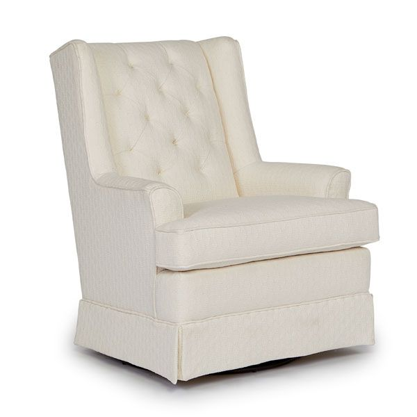 Neat & sweet. Our Nikole swivel glider adapts to any environment!