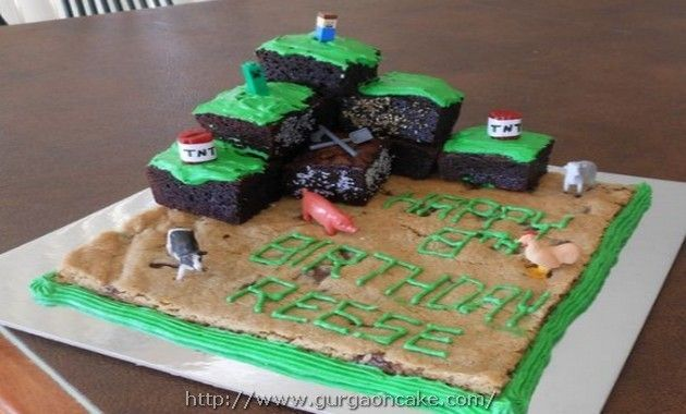 chocolate chip brownie birthday cake Picture