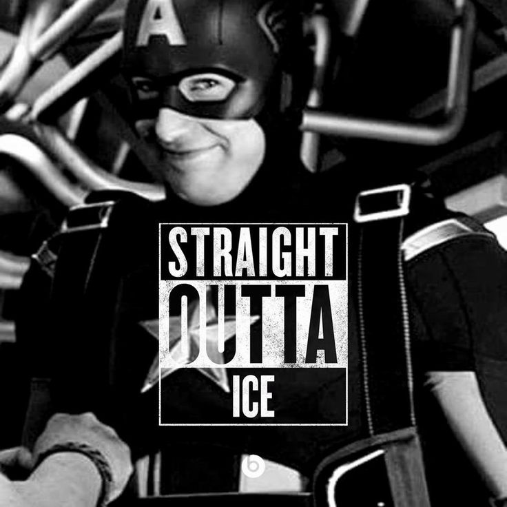 Straight outta ice. Captain America. Steve understands that reference
