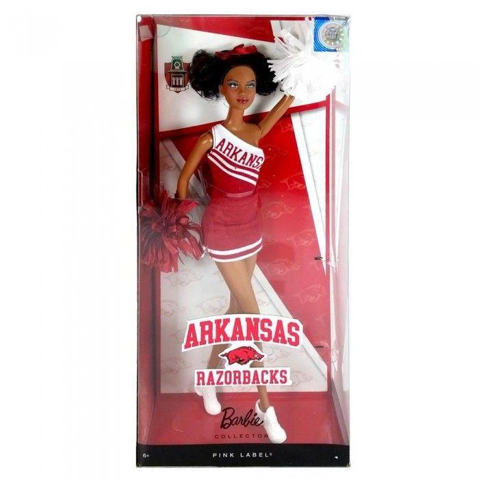 LiveZippy 12010545 U Of Arkansas African American Barbie