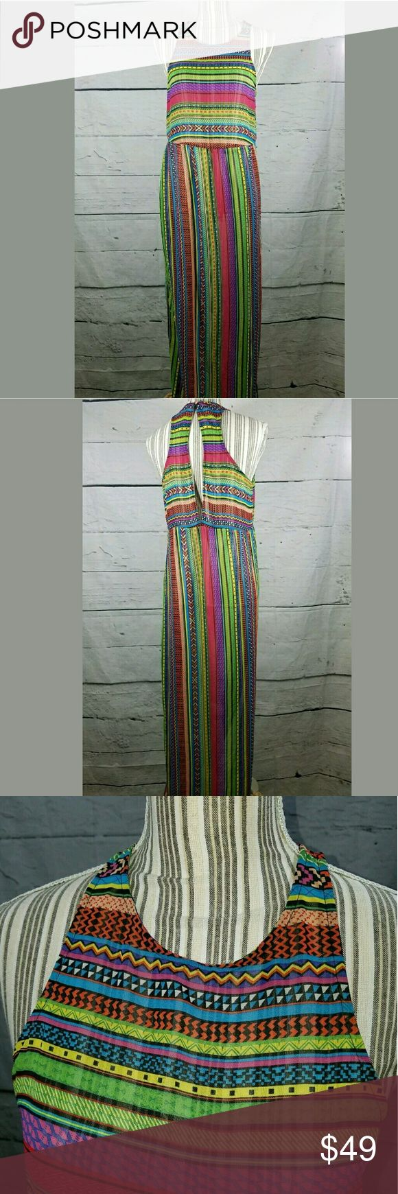 ??Anthropologie Staring at Stars Sheer Beach Dress Anthropologie Staring at Stars Sheer Aztec Beach Maxi Dress Side Splits Medium  Cute dress for the beach or add a slip dress underneath and wear it anywhere.   19 inches pit to pit.  60 inches long.  30 inch waist.  22 inch hips.   LB Anthropologie Dresses Maxi