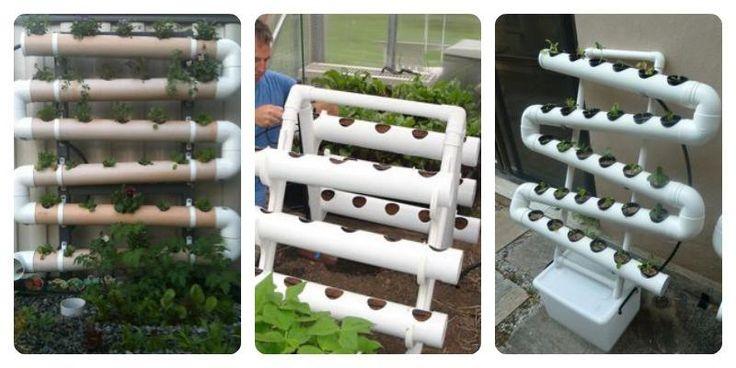 Diferentes formas de sembrar con tubos de pvc sembrar es for Casas de pvc para jardin