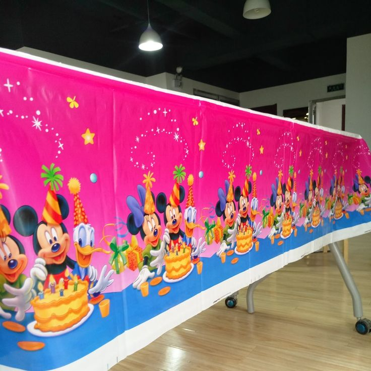 >> Click to Buy << 108cm*180cm Birthday Mickey Mouse Party Supplies Table Cloth Favor Kids Boy Birthday Tablecloths Festival Decoration 1 #Affiliate