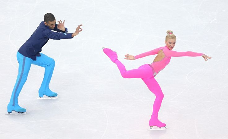 This German Olympic Figure Skater's Hot Pink 'Pink Panther' Catsuit Is Everything (PHOTOS) Aliona Savchenko <3!!