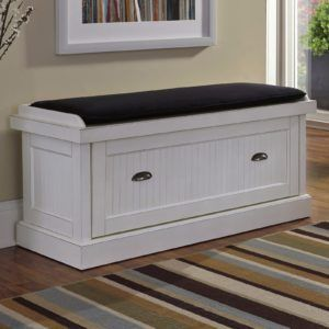 White Bench With Shoe Storage