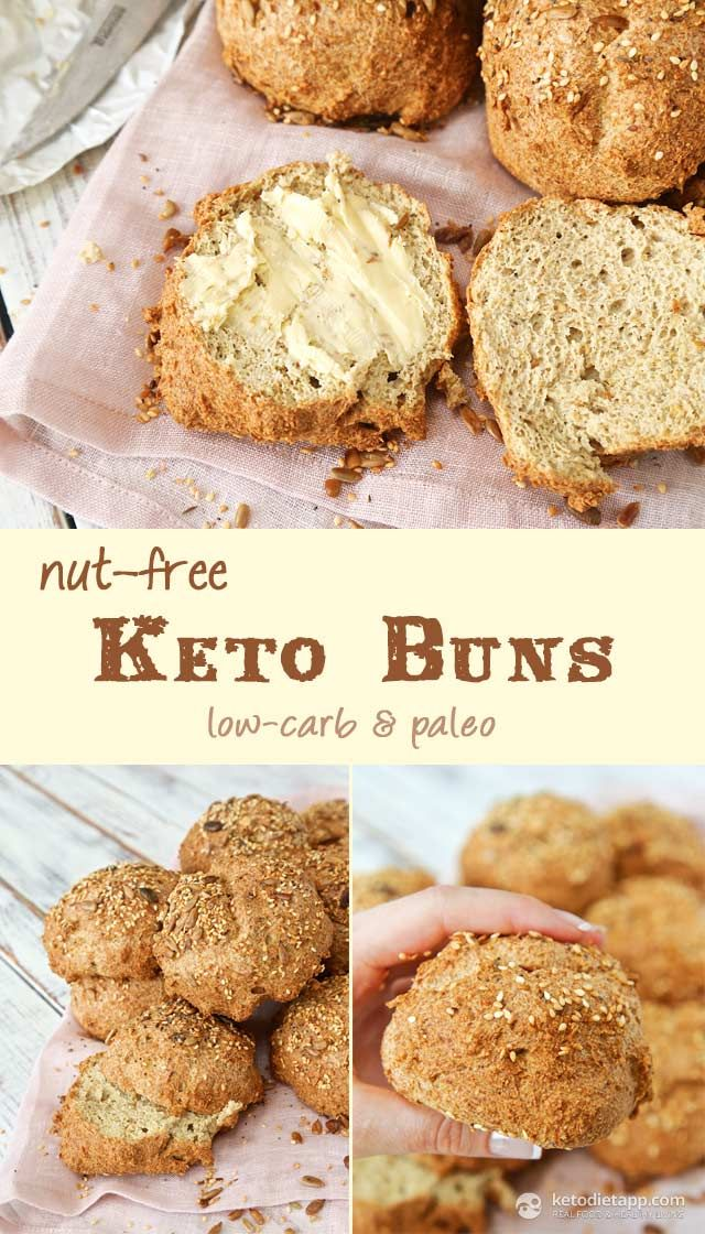 """Nut-free Keto Buns (low-carb, paleo) This time I added 1.5 T of cinnamon instead of garlic and onion. Great for a breakfast """"bagel"""""""