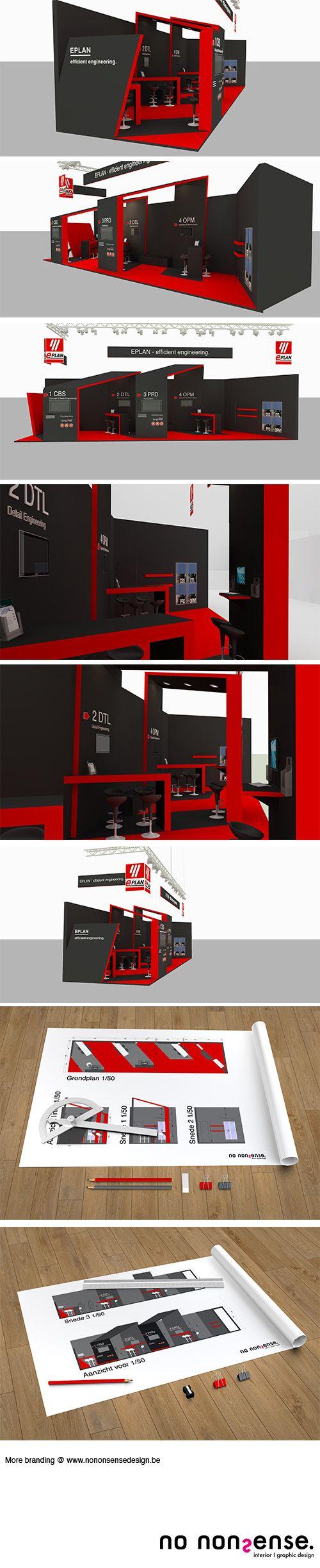 #Ontwerp van een beursstand voor E-plan waar de #merkbeleving zeer sterk aanwezig is. De #beursstand heeft een open en uitnodigend karakter door het spelen van open delen (lage drempel om beursstand te betreden) en gesloten delen (wekt nieuwsgierigheid op). Tevens werd rekening gehouden we de #visibiliteit langs de 3 zijden waar passanten voorbij komen. Het merk E-plan is zichtbaar en voelbaar in de ruimte aanwezig. #branding #branddesign #exhibitiondesign #designer #interieurarchitectuur