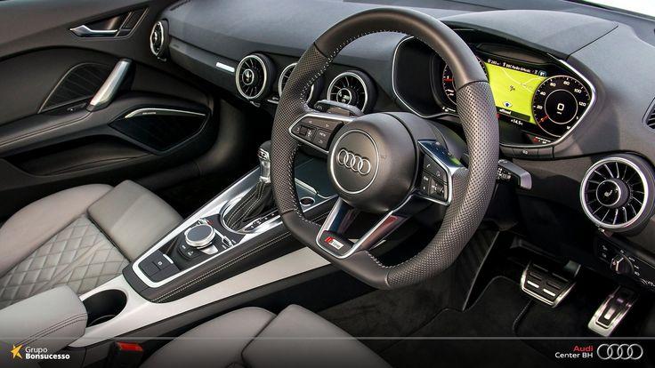 O Virtual Cockpit Audi é o painel de instrumentos mais inovador do mercado, além de contar com o design exclusivo das quatro argolas.  #Audi #AudiLovers #Love #AudiAutomóvel #AudiCenterBH #AudiTTCoupé #TTCoupé #TT #Cockpit