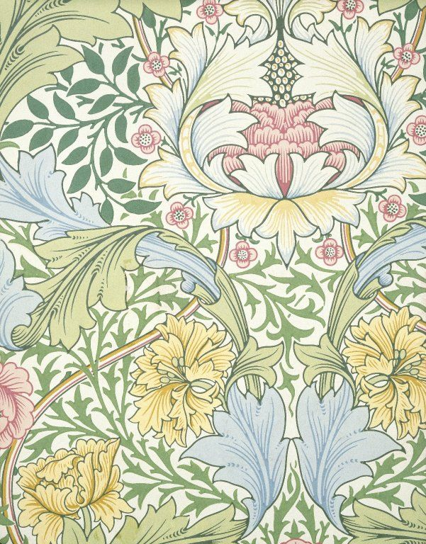 Myrtle by William Morris. Brooklyn Museum Decorative Arts