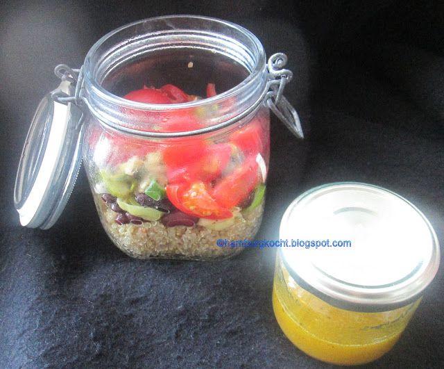 Hamburg kocht!: Quinoa-Salat mit Porree, Tomate und Ei