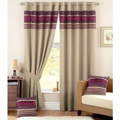 Vancouver Ready Made Curtains Aubergine