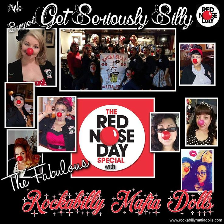 Red Nose Day 2016! www.rockabillymafiadolls.com